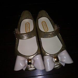 Other - Ultragirl gold glitter shoes